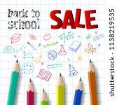 back to school  sale lettering... | Shutterstock .eps vector #1138219535