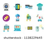 network icon set. web camera... | Shutterstock .eps vector #1138229645