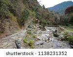 wooden bridge with rocky steps | Shutterstock . vector #1138231352