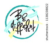 be different   handwritten... | Shutterstock .eps vector #1138238822