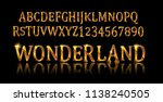 wonderland font. fairy abc. set ... | Shutterstock .eps vector #1138240505
