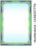 colorful vintage frame border... | Shutterstock .eps vector #1138257776