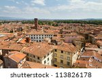 Skyline Of The City Of Lucca ...