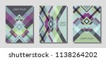set of cover page layouts ... | Shutterstock .eps vector #1138264202