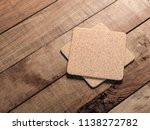 two square cork beer coasters... | Shutterstock . vector #1138272782