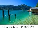 Beautiful Wolfgangsee Lake In...