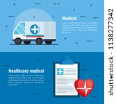 healthcare medical set icons | Shutterstock .eps vector #1138277342