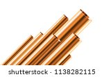 copper pipes of different...   Shutterstock .eps vector #1138282115
