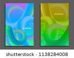 electronic gradient line fest... | Shutterstock .eps vector #1138284008