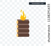 bonfire vector icon isolated on ... | Shutterstock .eps vector #1138291655