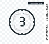 the 3 minutes vector icon... | Shutterstock .eps vector #1138305686
