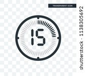 the 15 minutes vector icon... | Shutterstock .eps vector #1138305692