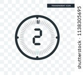 the 2 minutes vector icon... | Shutterstock .eps vector #1138305695
