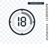 the 18 minutes vector icon... | Shutterstock .eps vector #1138305698