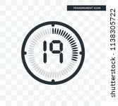 the 19 minutes vector icon... | Shutterstock .eps vector #1138305722