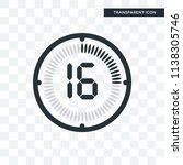 the 16 minutes vector icon... | Shutterstock .eps vector #1138305746