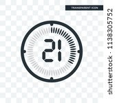 the 21 minutes vector icon... | Shutterstock .eps vector #1138305752