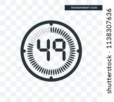the 49 minutes vector icon... | Shutterstock .eps vector #1138307636