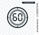 the 60 minutes vector icon... | Shutterstock .eps vector #1138307642