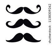 mustache  set. vector...   Shutterstock .eps vector #1138309262