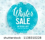 winter sale vector banner... | Shutterstock .eps vector #1138310228