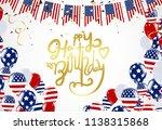 happy birthday america... | Shutterstock .eps vector #1138315868