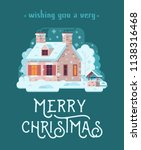 wish you merry christmas card... | Shutterstock . vector #1138316468