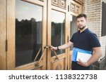 student with books and... | Shutterstock . vector #1138322738