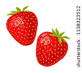whole and slice strawberry.... | Shutterstock .eps vector #1138323512