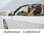 young woman with sunglasses... | Shutterstock . vector #1138334315