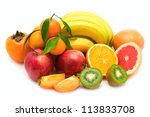 Fruit Collection Isolated On...