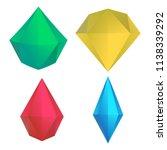 vector hand drawn diamonds set | Shutterstock .eps vector #1138339292