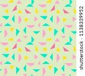 seamless triangle pattern...   Shutterstock .eps vector #1138339952