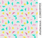seamless triangle pattern...   Shutterstock .eps vector #1138339955