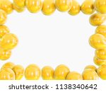 gold baloons with red ribbons... | Shutterstock . vector #1138340642