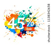 forty five percents sale.... | Shutterstock .eps vector #1138342658