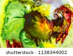abstract art. vibrant colours... | Shutterstock . vector #1138344002