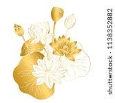 vector contour color gold white ... | Shutterstock .eps vector #1138352882