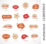 vector stickers  price tag ... | Shutterstock .eps vector #1138355015