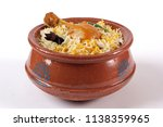 chicken biryani in handi ...   Shutterstock . vector #1138359965