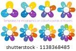 templates for infographics on... | Shutterstock .eps vector #1138368485