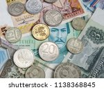 money of different countries of ... | Shutterstock . vector #1138368845