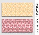 horizontal borders with... | Shutterstock .eps vector #1138374266