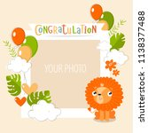 vector frame for a photo with a ... | Shutterstock .eps vector #1138377488