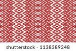 ikat seamless pattern. vector... | Shutterstock .eps vector #1138389248