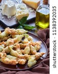 deep fried in tempura batter...   Shutterstock . vector #1138392035