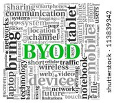 byod   bring your own device... | Shutterstock . vector #113839342