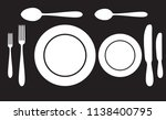 plate spoon fork and knife icon ... | Shutterstock .eps vector #1138400795