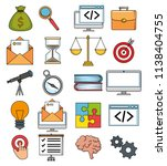 start up business set icons | Shutterstock .eps vector #1138404755