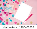 decorated boxes and blank white ... | Shutterstock . vector #1138405256
